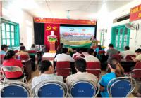 Field day on rice cultivation model (SRI)